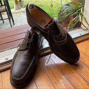 John Lobb handmade Derby Brown Buffalo leather